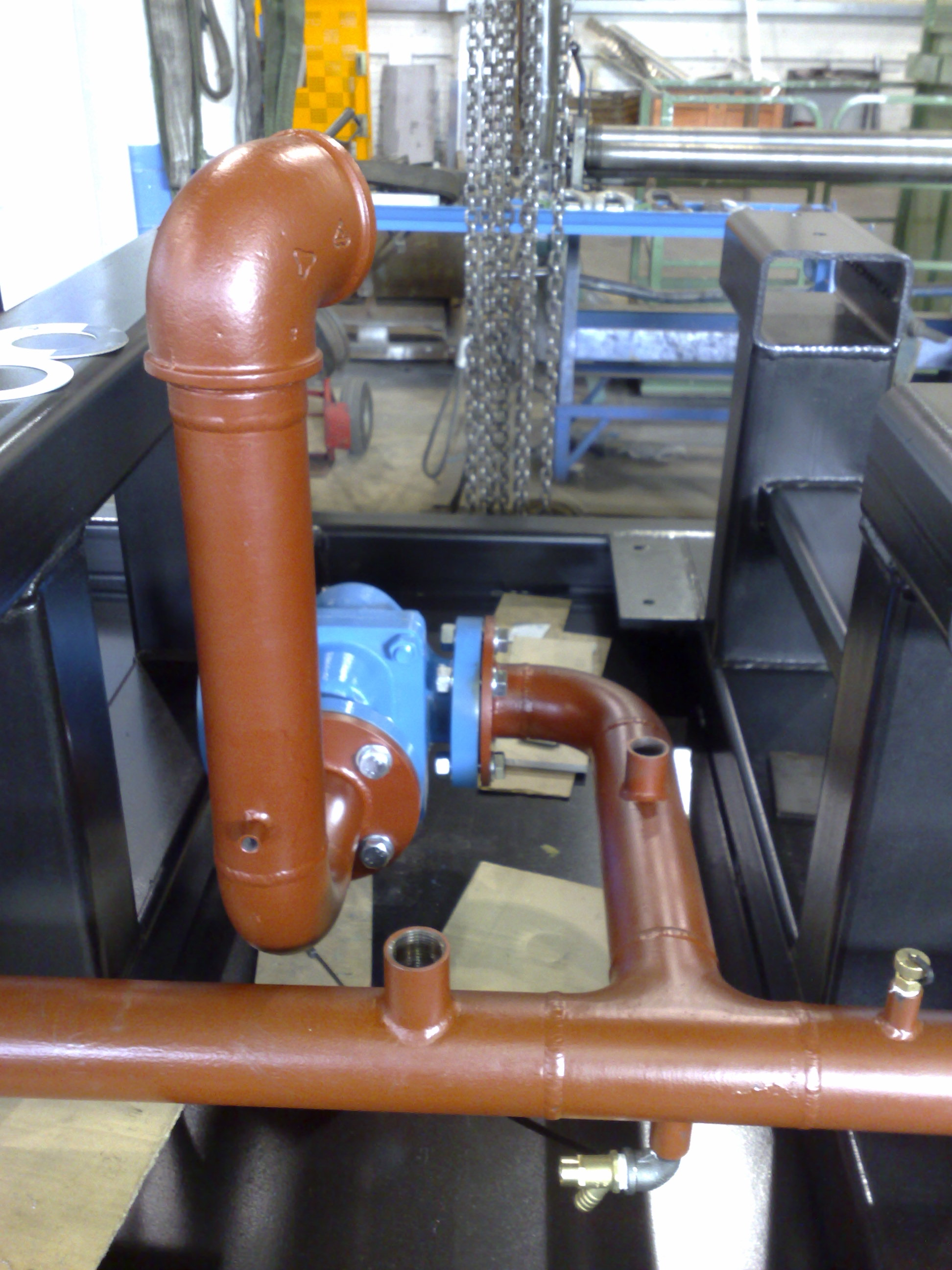 Cooling system and pipework