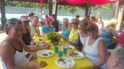 Ladies enjoying the food