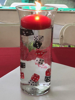Casino Night Table Candle