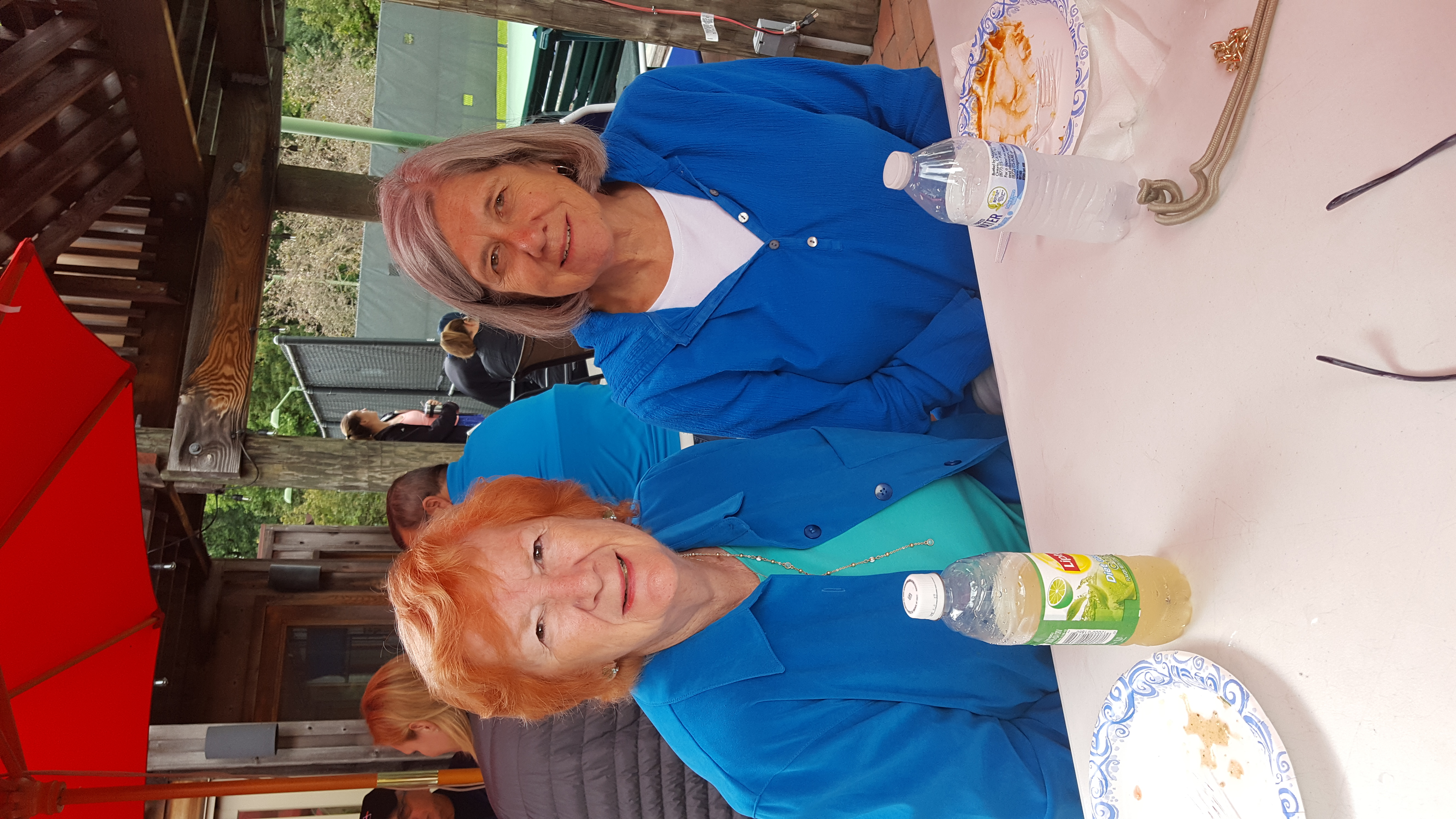 Ladies in Blue at the Brunch