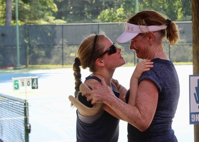 Mother and daughter doubles partners