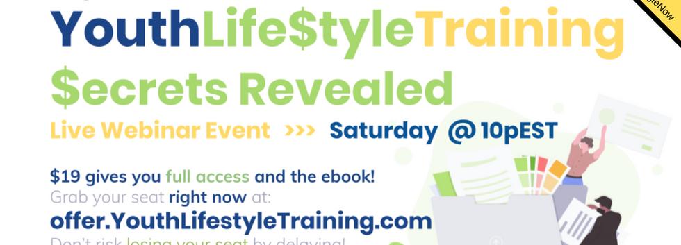 Youth Life$tyle Training Webinar Saturda