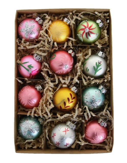 12 Assorted Winter Ornaments