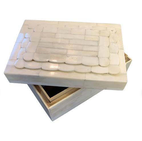 Bone Scalloped Box