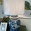Thumbnail: Vintage Blue & White Jar Lamp
