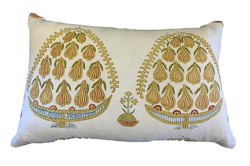 Yellow and Green Fig Pillow