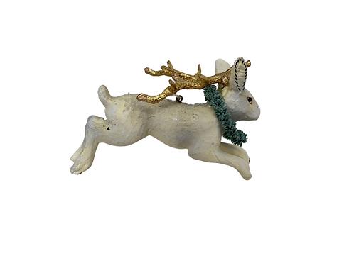 Jackalope with Goldleaf Antlers