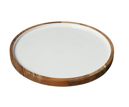 Wood & Enamel Platter