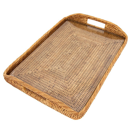Rectangle Tray with Glass Insert
