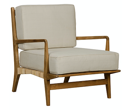 Alabaster Chair in Teak & Rattan