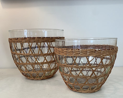 Caned Wicker Bowls