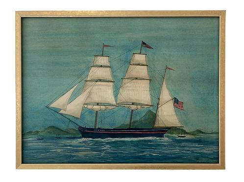 Ship Print, Framed
