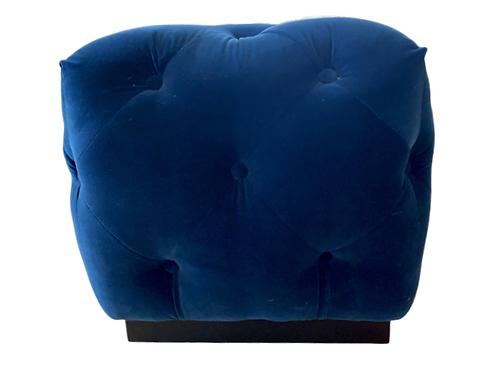 Blue Velvet Ottoman