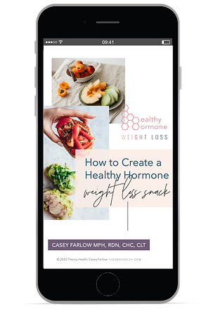 How to Create a Healthy Hormone Weight Loss Snack - Free PDF Snack Guide