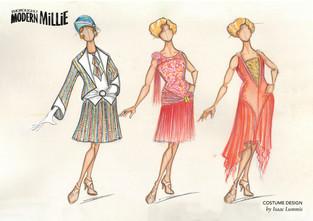 Thoroughly Modern Millie Costume Illustration