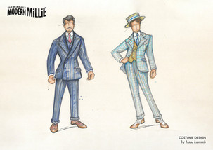 Thoroughly Modern Millie Costume Illustration