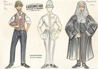 A Gentleman's Guide to Love & Murder Costume Illustration