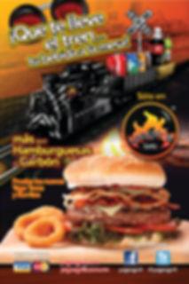 Yago's grill hamburguesaal carbon con queso mozzarella