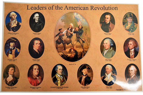 Leaders of the American Revolution Placemat