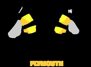 Jive Hive Plymouth logo dancing bees