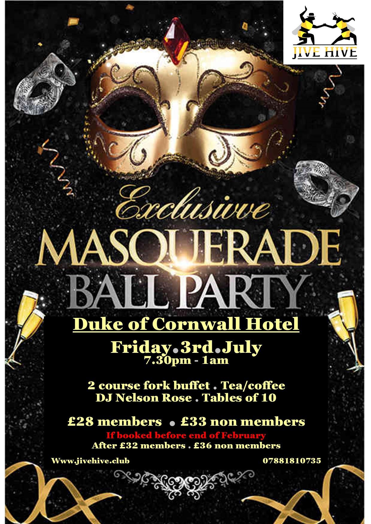 Masquerade Ball at The Duke of Cornwall