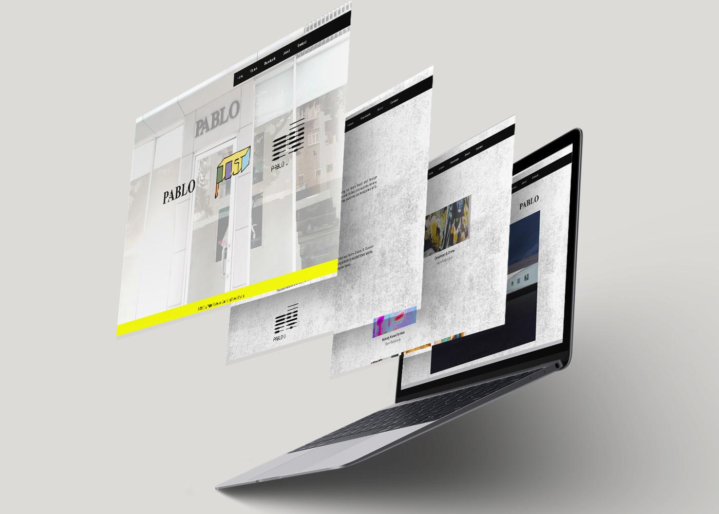 Pablo Galleries Desktop Site