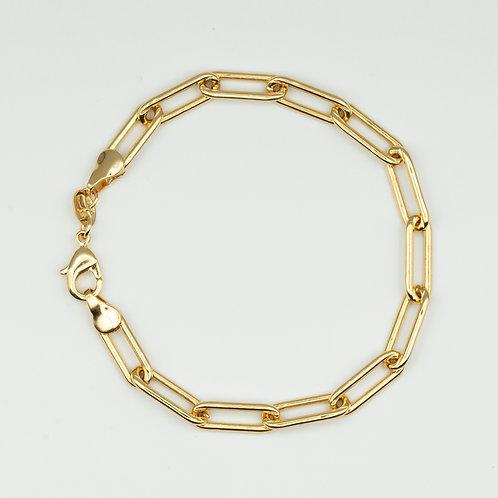 Zoe Paper Clip Bracelet