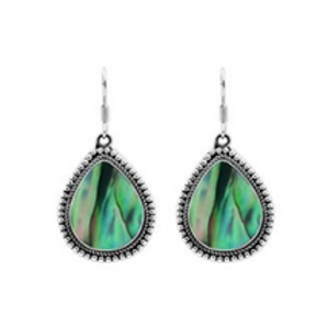Tear Drop Abalone Earrings