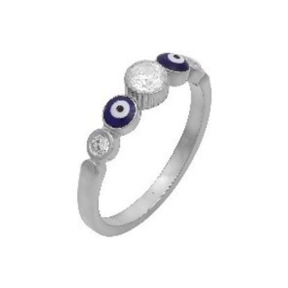 Evil Eye Eternity Ring