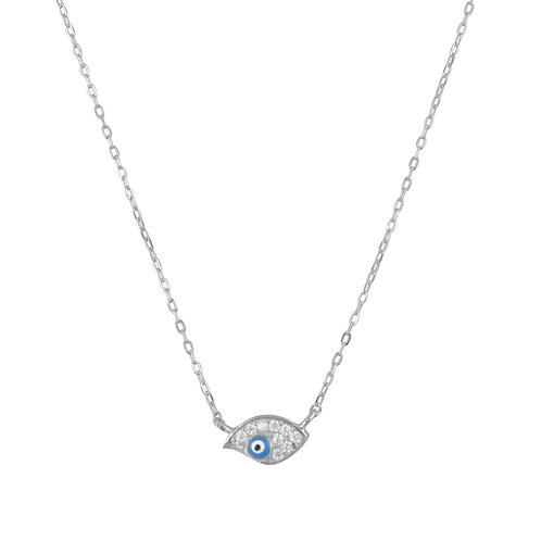Oval Shaped Evil Eye Necklace