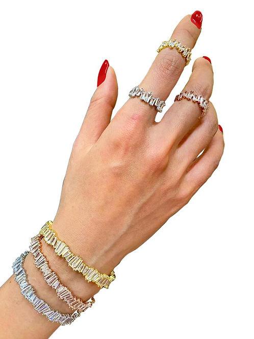 Estella Baguette Cuff Bracelet.