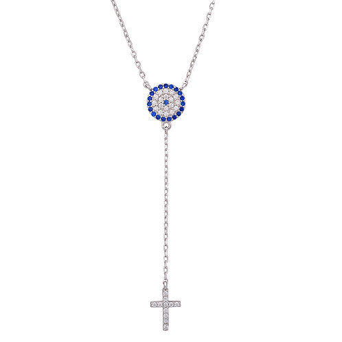 Lariat Style Evil Eye Necklace