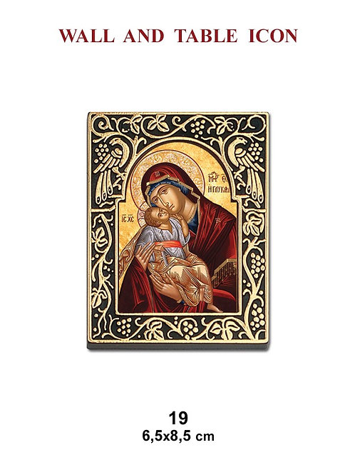 Mother Mary and Baby Jesus Icon