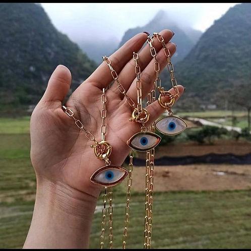 Jana MOP Evil Eye Necklace.