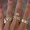 Thumbnail: Chloe Tiple Band Safety Pin Ring