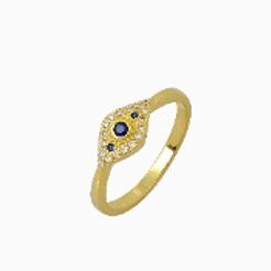 Embellished Evil Eye Ring
