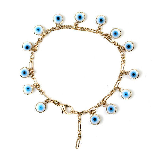 Kristie Evil Eye Charm Bracelet