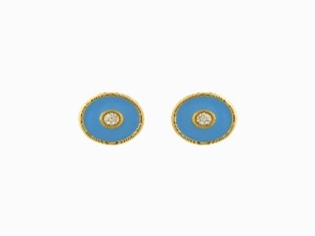 Enamel Evil Eye Earrings