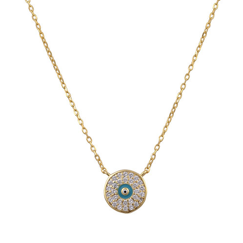 Embellished Evil Eye Necklace