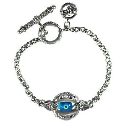Solitaire Evil Eye Bracelet
