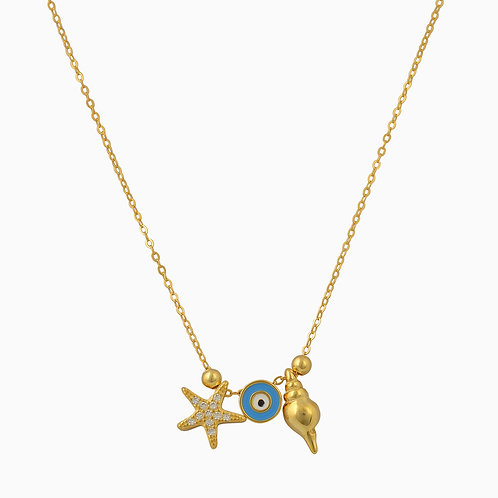 Nautical Evil Eye Necklace