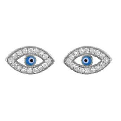Oval Evil Eye Earrings