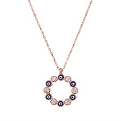 Circle Evil Eye Necklace