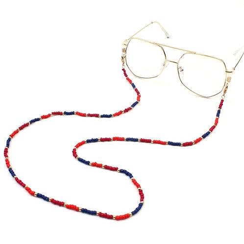 Armen Tri-Color Convertable Eyeglass/Mask Necklace