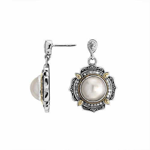 Intricacy Mabe Pearl Earrings.