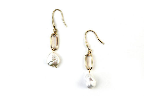 Flora Drop Pearl Earrings.