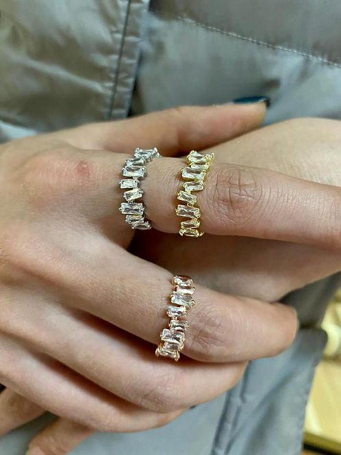 Estella Baguette Cuff Ring.