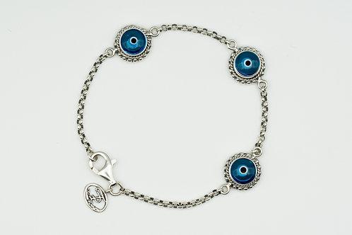 Trinity Evil Eye Bracelet
