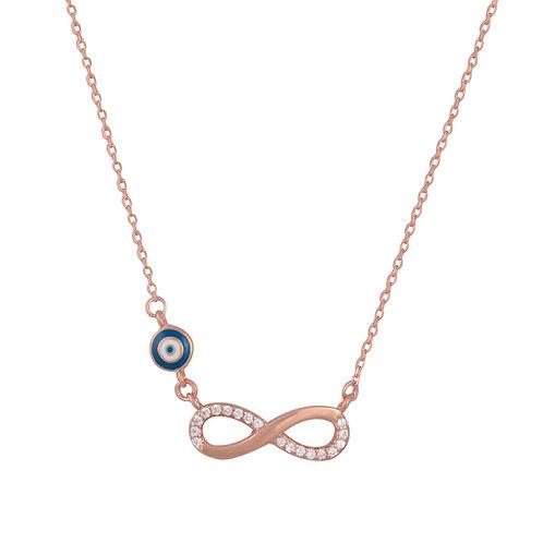 Eternity Evil Eye Necklace