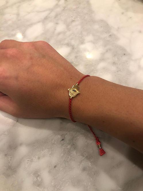 Fatima Red Rope Hamsa Bracelet.
